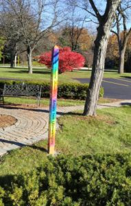Peace Pole and Burning Bush